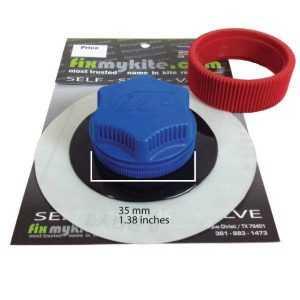 Fixmykite.com North Airport Einlass/Auslass Schraub Ventil auf einem 10cm /4inch Tear-Aid Patch