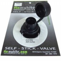 FMK Cabrinha Airlock2 Screw-Cap Valve & Slingshot ersatz Ventil auf einem 7,6cm (3 inch) Tear-Aid Typ-A Patch