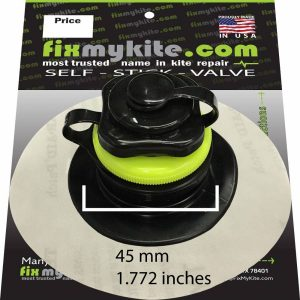 Fixmykite.com Naish Screw Cap Ventil auf einem 10cm /4inch Tear-Aid Patch