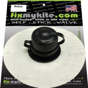 Fixmykite.com Cabrinha Airlock2 螺旋盖阀和弹弓单泵系统阀,位于 10 厘米/4 英寸的助泪片上